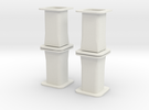 HO/1:87 Precast concrete bridge column set in White Strong & Flexible