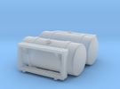 """1/64th Scale 48"""" Round Fuel Tanks w Steps in Frosted Ultra Detail"""