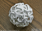 Medusa Ball 3inch in White Strong & Flexible