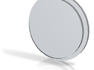 Blank Pommel Insert in Polished Metallic Plastic
