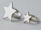 Silver Star Ring (large star) size 6 in Polished Silver
