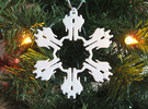 Snowflake Starscream Ornament  in White Strong & Flexible