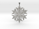 Wilson Bentley Snowflake Crystal Pendant in Raw Silver
