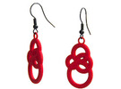 Michelin like earrings in Red Strong & Flexible Polished