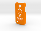Samsung S4 Mini - Think Positive in Orange Strong & Flexible Polished