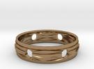 Ring18(18mm) in Raw Brass