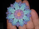 Full Color Flower Pendant With Hole in Full Color Sandstone