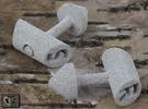 Cufflinks - Initials 2 in Metallic Plastic
