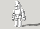 Base Minifigure in White Strong & Flexible