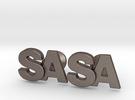 Monogram Cufflinks SA in Stainless Steel