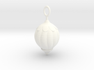 Christmas Tree Bauble pendant in White Strong & Flexible Polished