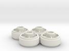 Mini-z NSR5229 20mm +3 Wheelset in White Strong & Flexible