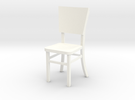 Miniature 1:24 Cafe Chair in White Strong & Flexible Polished