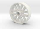 BP8 front wheel for foam tires 56mm in White Strong & Flexible