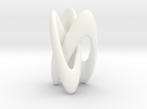 Trifold Knot - Smooth in White Strong & Flexible Polished