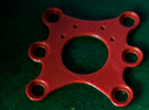 Feiyu Tech Phantom 2 Gimbal mounting plate in Red Strong & Flexible Polished