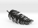 Pendant feather in Black Strong & Flexible