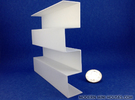 Zipper Room Divider 1:12 scale Bookshelf in White Strong & Flexible Polished
