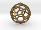 Pentagonal Icositetrahedron Pendant in Polished Bronze
