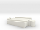 Male Tomy to Male Wooden Railway Adapter in White Strong & Flexible