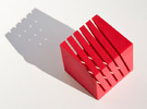 Notestand One in Red Strong & Flexible Polished