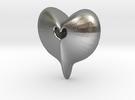 Heart Pendant  in Raw Silver