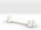 FA20004 Sand Rail Slim Line Servo Mount in White Strong & Flexible Polished