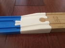 Male Tomy to Female Wooden Railway in White Strong & Flexible