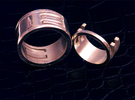 Interlocking Rings (US size 7.5) in Polished Silver
