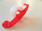Tape Dispenser in White Strong & Flexible