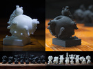 Surreal Chess Set - My Masterpieces - The Pawn in Black Strong & Flexible