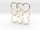 Heart Earring or Pendant in 14K Gold