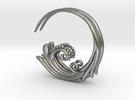 Flourish Earrings in Raw Silver