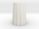"1:24 Draped Bar Table - 24"" diameter in White Strong & Flexible"