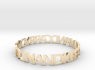 KEEP CALM AND CARRY ON AND ON AND bangle in 14k Gold Plated