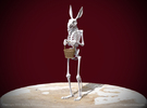 Easter Bunny Skeleton in White Strong & Flexible