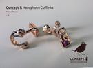 Headset Cufflinks in Polished Bronze
