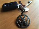 VeeDub Keyring in Polished Bronze Steel