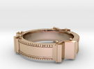 Bookring (size 8.5) in 14k Rose Gold Plated