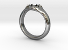Scalloped Ring (size 5.5) in Premium Silver