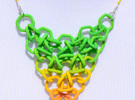 Green/Yellow Gradient Mesh Pendant in Full Color Sandstone