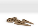 Star Wars inspired TIE Interceptor necklace (TIE F in Raw Brass
