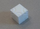 Arc D6 Dice in White Strong & Flexible