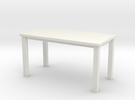 Miniature 1:48 Table 5 Foot in White Strong & Flexible