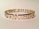 OMG WTF Bangle in Polished Gold Steel