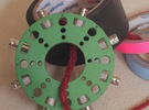 Barrel Roll - A BNC coupler organizer that fits on in Green Strong & Flexible Polished