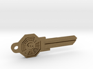 Bagua House Key Blank - KW11/97 in Raw Bronze