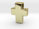 Chunky Cross Pendant in 18k Gold Plated