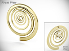 Spiral in 18k Gold Plated
