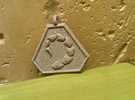 Brotherhood of Nod Pendant - Small in Metallic Plastic